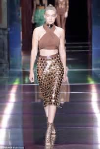 Catwalk Top 10 Vintage Part 2 by Gigi Hadid Rocks The Runway At The Balmain Fashion