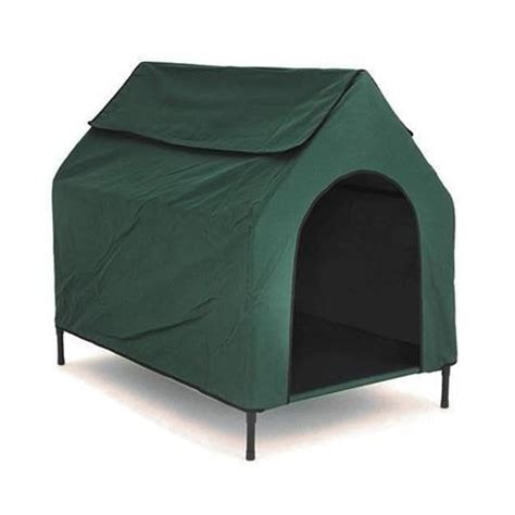 elevated dog house waterproof elevated dog house flea resistant raised pet bed troline kennel ebay