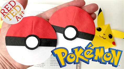 How To Make Paper Pokeball - easy pokeball bookmark go origami paper crafts