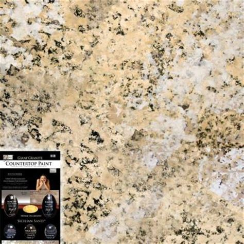 giani granite 1 25 qt sicilian sand countertop paint kit