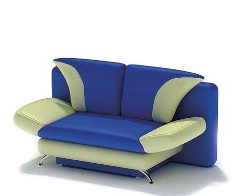 light green sofa modern design blue and light green sofa 3d model