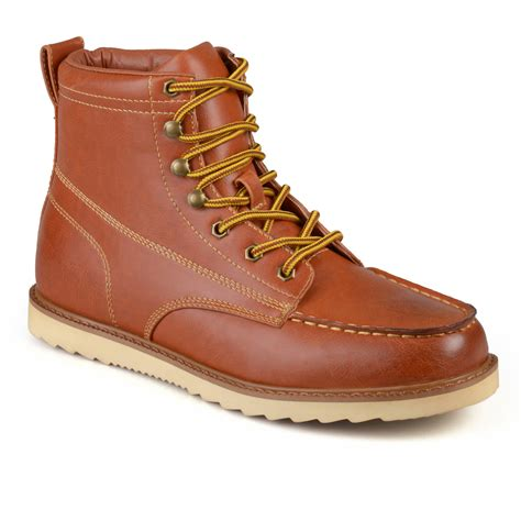 construction work boots daxx mens lace up faux leather moc toe work boots shoes