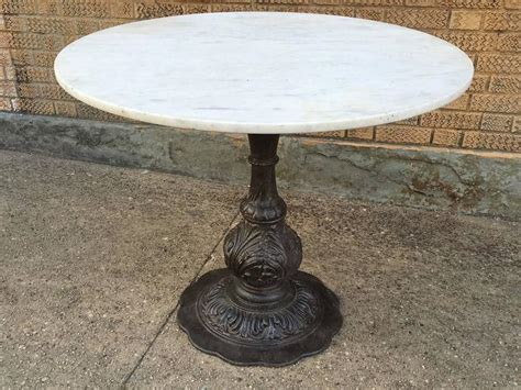 Marble Base Table L by Marble Dining Table With Ornate Cast Iron Base Cityfoundry