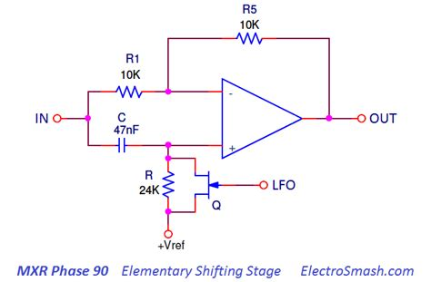 fet transistor variable resistor electrosmash mxr phase 90 analysis