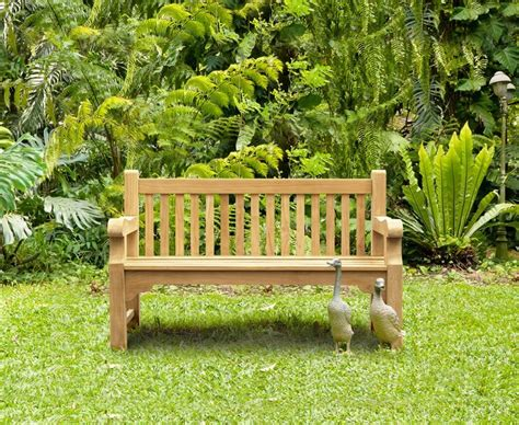 5ft garden bench balmoral 5ft teak park street bench heavy duty garden