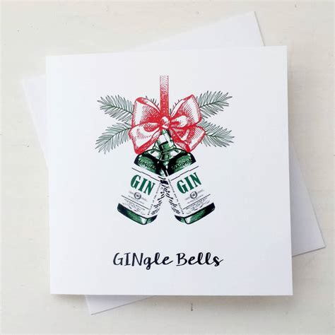 gingle bells gin christmas card by of life lemons notonthehighstreet com