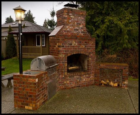 Outdoor Masonry Fireplace Plans by 17 Best Ideas About Brick Grill On Diy Grill