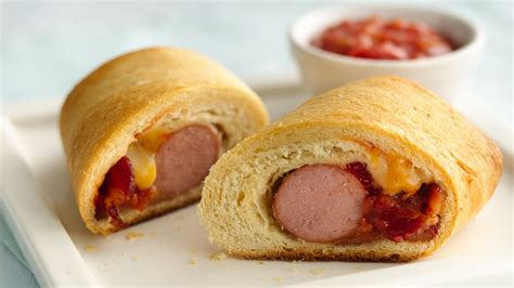 crescent dogs bacon burrito crescent dogs recipe from pillsbury