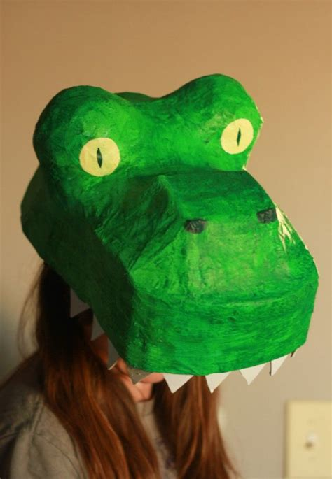How To Make A Paper Mache Dinosaur - paper mache dinosaur mask t rex costume diy pre