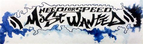 logo artist wanted need for speed most wanted logo by blackdreamabhi on deviantart