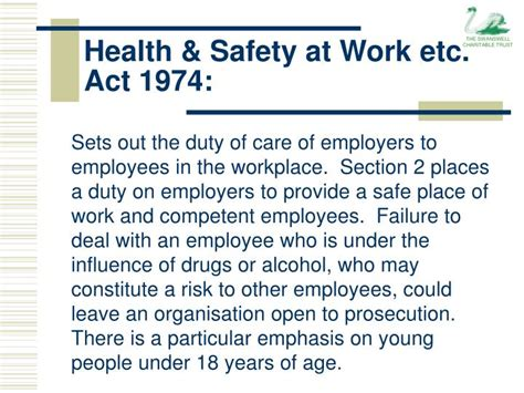 health and safety at work act 1974 section 8 ppt workplace drug alcohol policy powerpoint