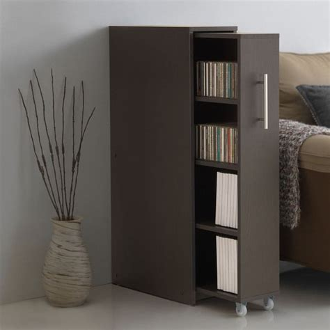 baxton studio lindo bookcase and dual pull out shelving cabinet hidden gem gt gt baxton studio lindo dark brown wood bookcase