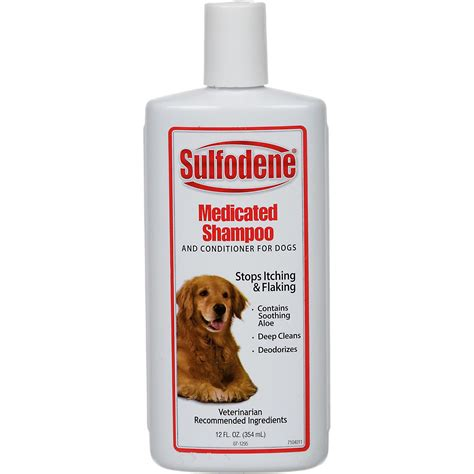 shoo for dogs sulfodene medicated shoo conditioner for dogs petco