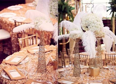 feather centerpieces for weddings feather and gold wedding centerpieces