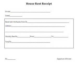 Receipt Template Rent Rent Receipt Format For House And Property Pictures To Pin