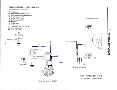 re bare minimum wiring for 78 puch maxi