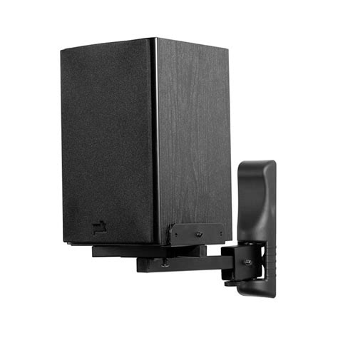 peerless bookshelf speaker mount for up to 26 lbs black