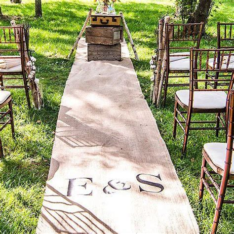 Wedding Aisle Runner Monogram by Personalized Burlap Aisle Runner With Monogram
