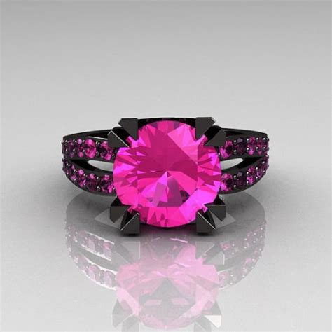 black gold ring pink