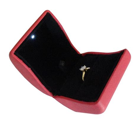 engagement ring box with light engagement ring box with light chic and stylish
