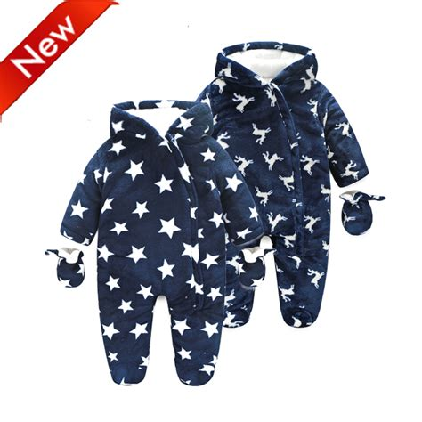 Mothercare Romper For Baby 1 new 2016 brand baby rompers winter snowsuit newborn infant overalls boy clothes warm winter