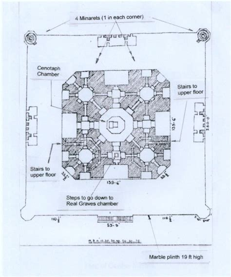 taj mahal floor plan taj mahal floor plan of the main building designed by