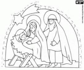 ausmalbilder weihnachtskrippe malvorlagen