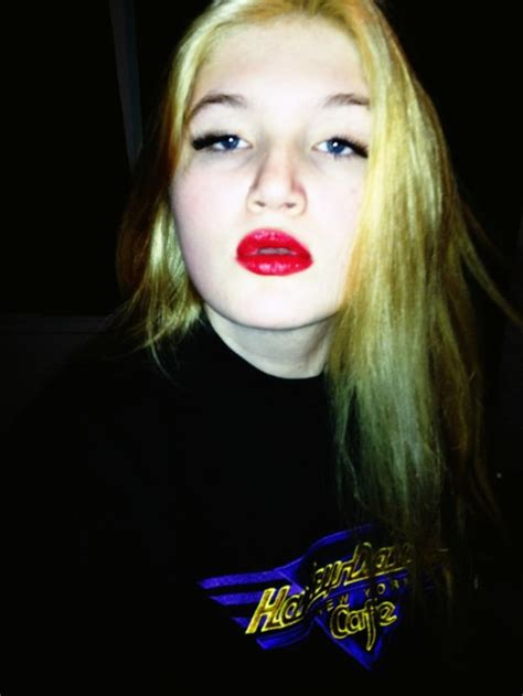 blonde girl with red lipstick girl blonde red lips