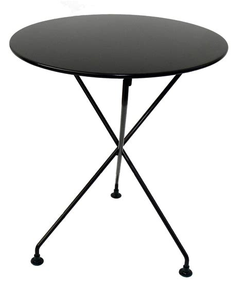 Folding Bistro Table Metal Mobel Designhaus Caf 233 Bistro 3 Leg Folding Bistro Table Jet Black Frame 24