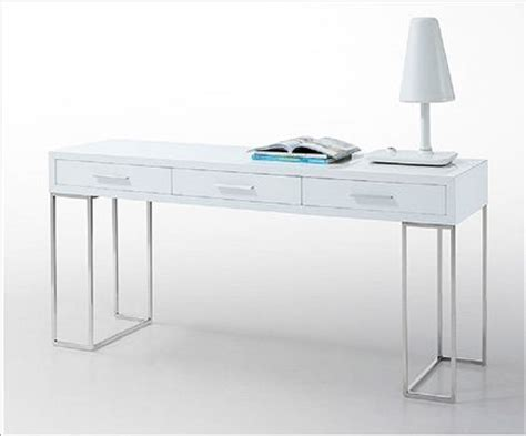 Chrome Help Desk by Sleek White 3 Drawer Desk With Chrome Legs By J 695