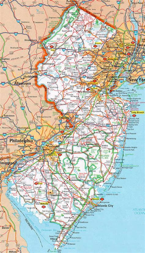 road map of new jersey hognews state pages new jersey
