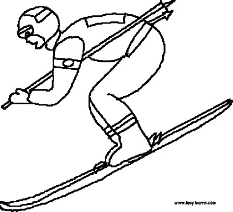 skier clipart color clipground