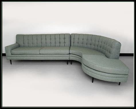 Flexsteel Curved Sofa 60s Mid Century Modern Seafoam Green Curved Sectional Flexsteel Sofa New Fabric Mid Century