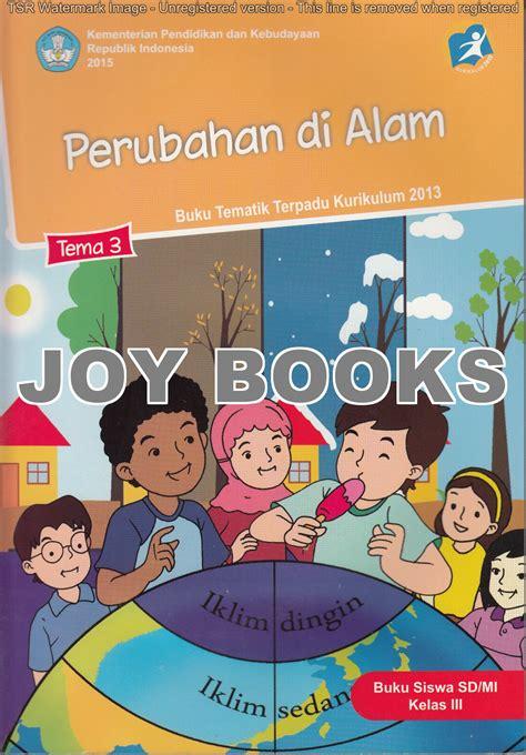Buku Sd Tematik Kelas 5 Tema 3 jual buku tematik sd kelas 3 books