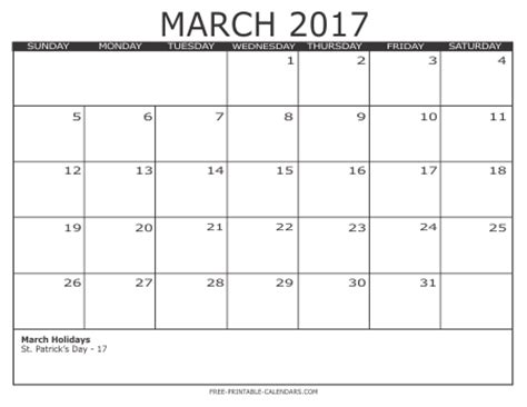 printable calendar 2017 with large boxes 2017 monthly calendars free printable calendars