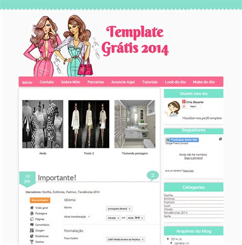 templates para blogger gratis template feminino gr 193 tis cantinho do blog