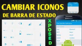 barra superior de android cambiar iconos de barra de estado xposed 2015 2016 youtube