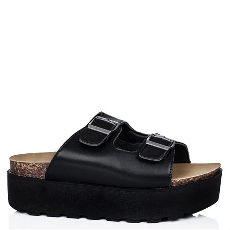 buy matador flatform buckle platform sandal shoes black