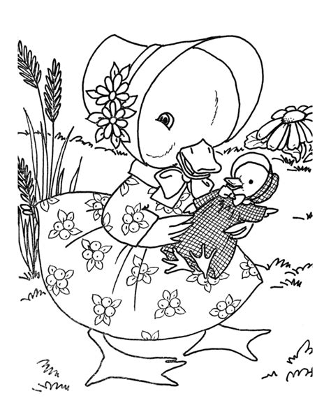 Coloring Pages Of Animals And Their Babies baby duck coloring pages az coloring pages