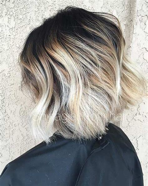 black at root of hair 31 cool balayage ideas for short hair dark roots blonde
