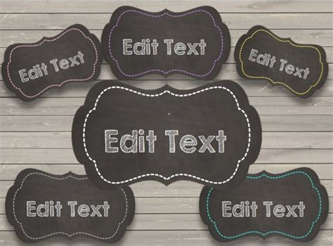 Free Editable Chalkboard Labels 50 sale chalkboard labels editable frames instant