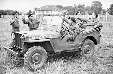 Willys Jeep Canada Vintage Wwii Canadian Army Willys Jeep Photos