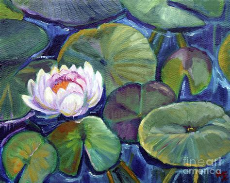 acrylic paint artist pad pads in pond study by hilary