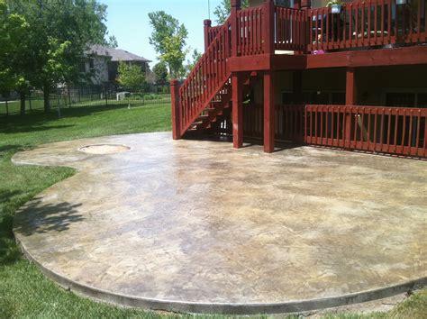 stained concrete patio concrete services sted concrete concrete repair