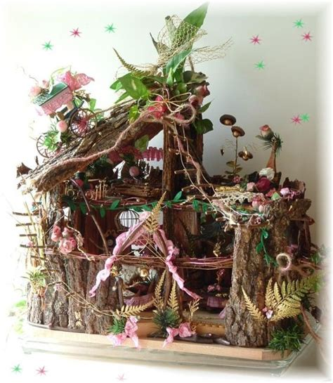 fairy doll houses ooak elite fairy doll house stump tower furnished