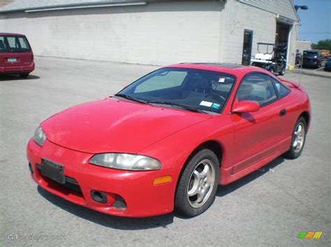 red mitsubishi mitsubishi eclipse red color car pictures