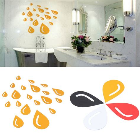 diy drop mirror surface acrylic wall sticker