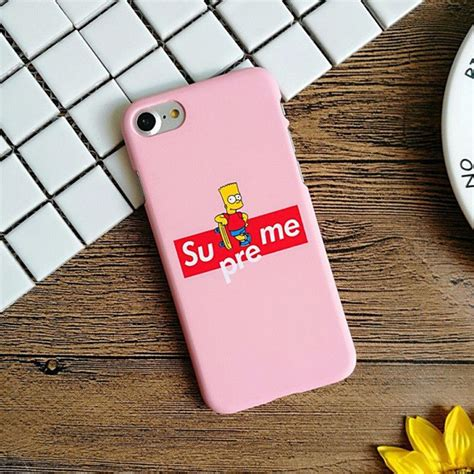Iphone Supreme X Simspson supreme mickey mouse superman cat finger matte pc phone cases for iphone 5 5s se 6