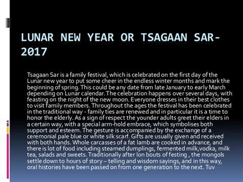 lunar new year date lunar new year or tsagaan sar 2017