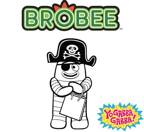 nick jr yo gabba gabba coloring pages 22 best images about brobee on pinterest acrylics